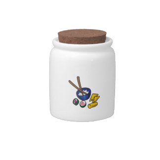 CHINESE FOOD CANDY JARS