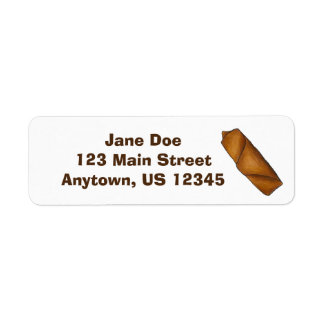 Chinese Food Egg Roll Eggroll Address Labels