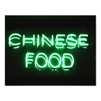 CHINESE FOOD - Green Neon Sign Custom Announcements