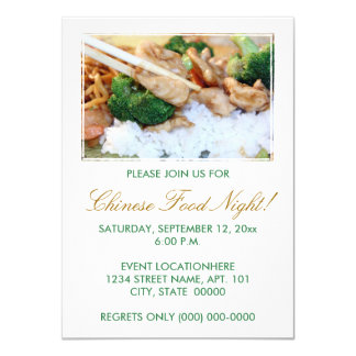 Chinese Food Invitations