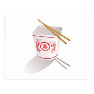 Chinese Food Postcard