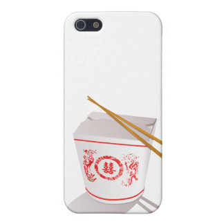 Chinese food take out box chopsticks graphic case for iPhone SE/5/5s