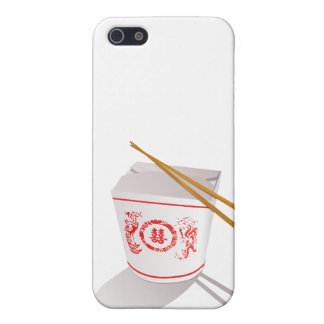 Chinese food take out box chopsticks graphic iPhone SE/5/5s cover