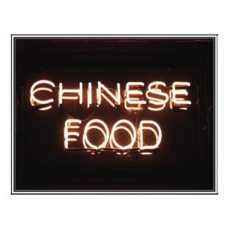 CHINESE FOOD - Yellow  Neon Sign Personalized Flyer