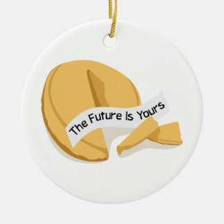 Chinese Fortune Cookie Ceramic Ornament