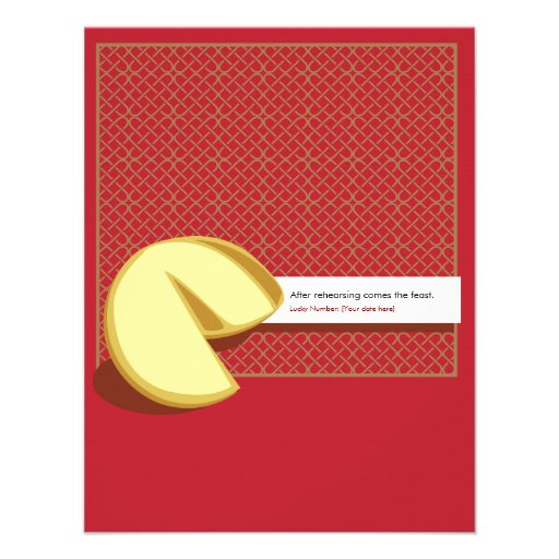 Chinese Fortune Cookie Rehearsal Invitation