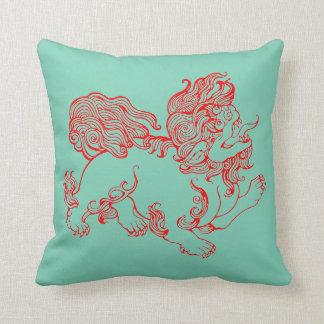 """Chinese Fu Foo Dog"" Throw Pillow"
