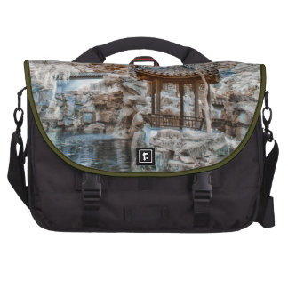 Chinese Garden Infrared Laptop Messenger Bag