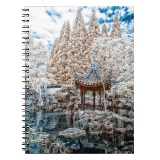 Chinese Garden Infrared Spiral Note Book