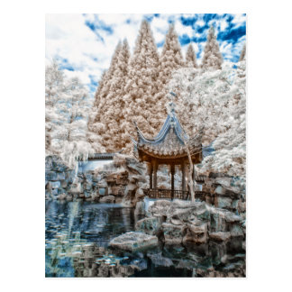 Chinese Garden Infrared Postcards