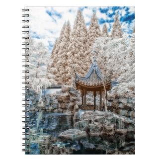 Chinese Garden Infrared Spiral Note Book