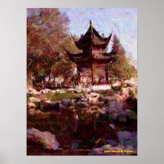 Chinese Garden Pond Print