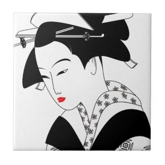Chinese Geisha Ceramic Tile