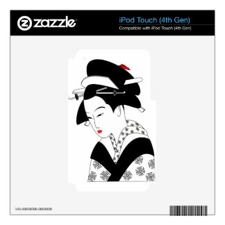 Chinese Geisha Skins For iPod Touch 4G