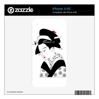 Chinese Geisha Skins For The iPhone 4