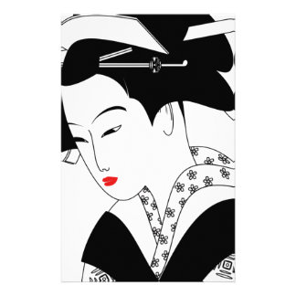 Chinese Geisha Stationery