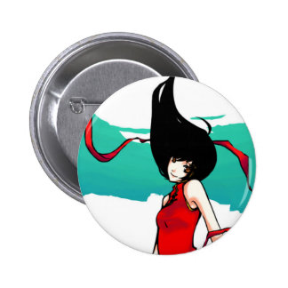 Chinese Girl 2 Inch Round Button