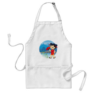 Chinese girl adult apron