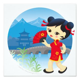 Chinese girl card