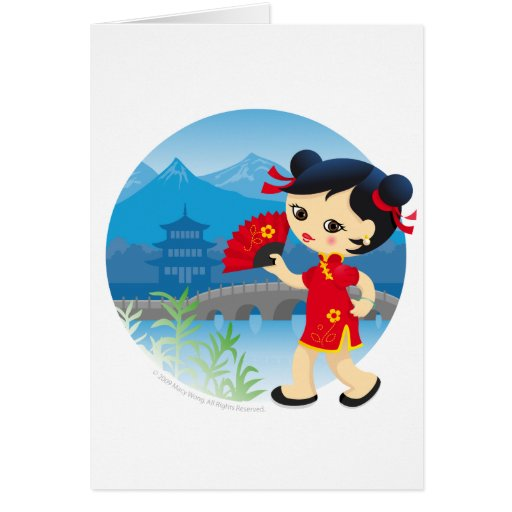 Chinese girl cards