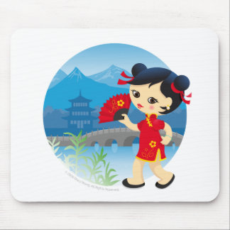 Chinese girl mouse pad