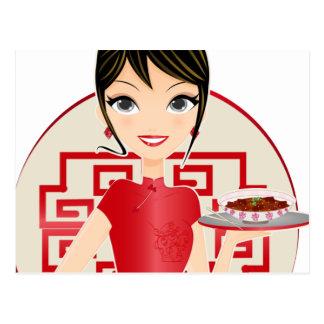 Chinese girl postcard