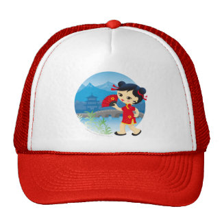 Chinese girl trucker hat