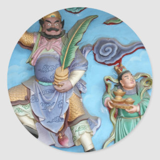 Chinese Gods Round Stickers