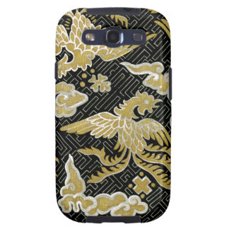 Chinese Gold and Black Phoenix Pattern Galaxy SIII Cases