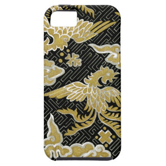 Chinese Gold and Black Phoenix Pattern iPhone 5 Covers