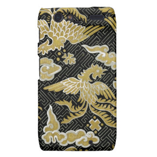 Chinese Gold and Black Phoenix Pattern Droid RAZR Cover