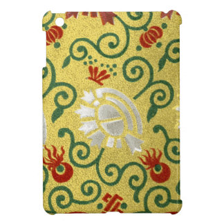 Chinese Gold and Red Floral Pattern iPad Mini Cases