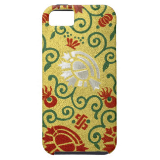Chinese Gold and Red Floral Pattern iPhone 5 Case