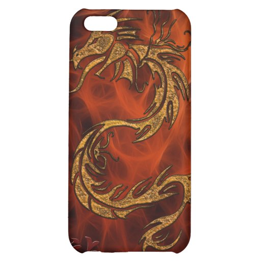 Chinese Gold Dragon on an iPhone 4 Case