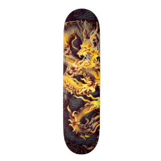Chinese Gold Emperor Dragon Element Custom Pro Skateboard