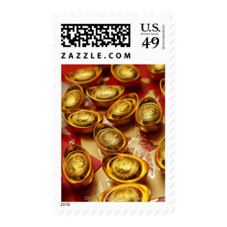 Chinese gold ingots stamps