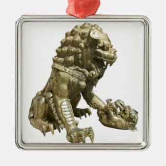CHINESE GOLDEN LION NEAR FORBIDDEN CITY CHINA CHRISTMAS ORNAMENT