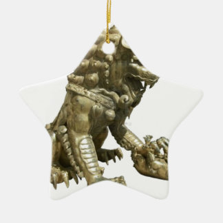 CHINESE GOLDEN LION NEAR FORBIDDEN CITY CHINA CHRISTMAS TREE ORNAMENT