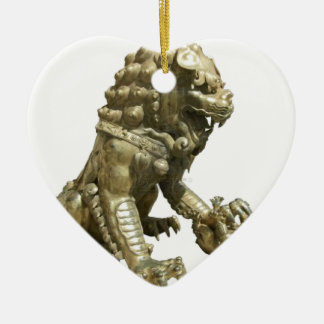 CHINESE GOLDEN LION NEAR FORBIDDEN CITY CHINA CHRISTMAS ORNAMENTS