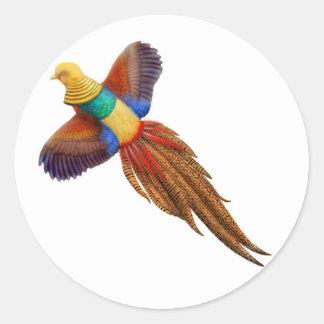 Chinese Golden Pheasant Sticker