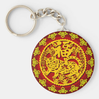 Chinese Good Fortune Symbol Keychain