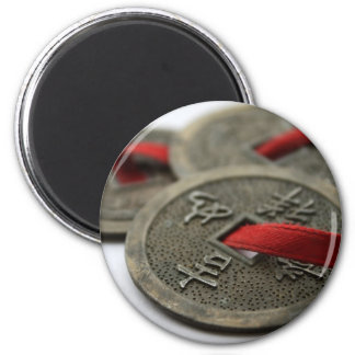 Chinese Good Luck Coins 2 Inch Round Magnet