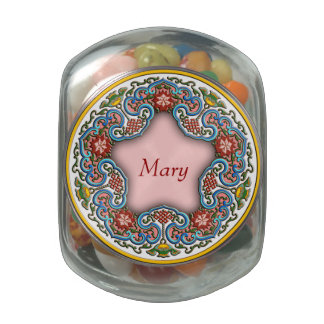 Chinese good luck good fortune ornament with name jelly belly candy jars