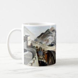 Chinese Great Wall Basic White Mug