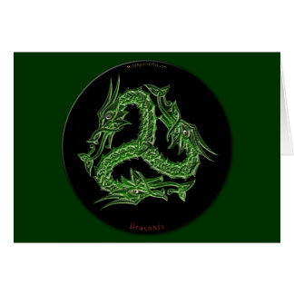 CHINESE GREEN DRAGON Design Card