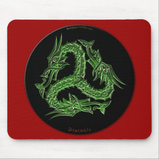 CHINESE GREEN DRAGON Design Mouse Pad