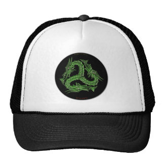 CHINESE GREEN DRAGON Design Trucker Hat