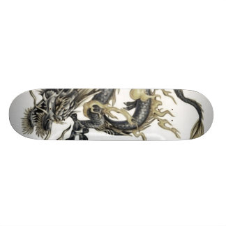 Chinese Green Dragon Painting Skateboard