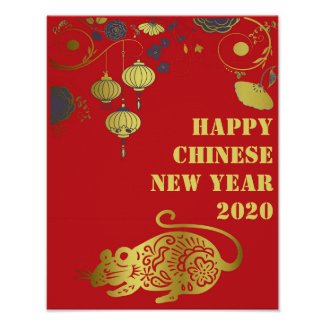 Chinese Happy New Year - Year Of The Rat 2020 Poster