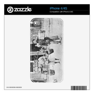 Chinese Hawkers, c.1870 (b/w photo) Decal For iPhone 4